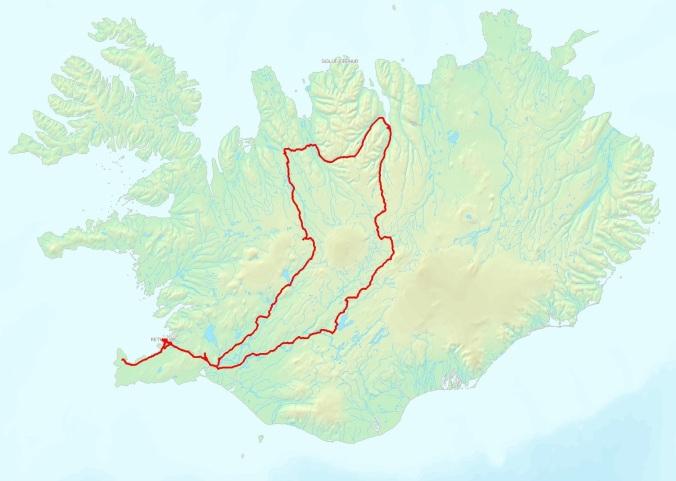 Mapa Islandia