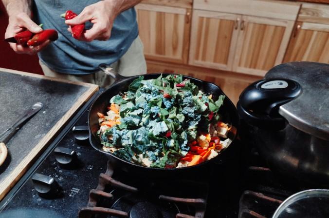 Greg naju je razvajal s svojimi kuharskimi sposobnostmi in dobrotami pripravljene iz lastnega vrta, kjer neverjetno uspeva prav vsaka zelenjava.